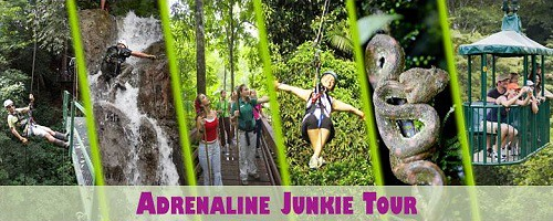 Costa Rica Pacific Adrenaline Junkie Tour