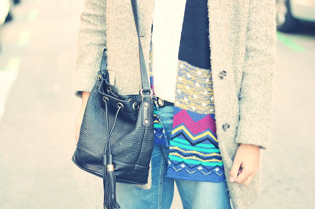 Palazzo jeans and black jumper