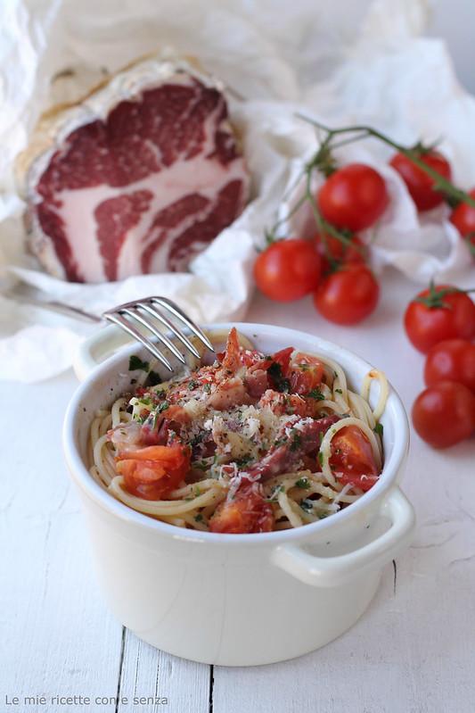 spaghetti con la coppa