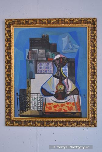 54. Emiliano Di Cavalcanti. Vendedora da Bahia, 1956
