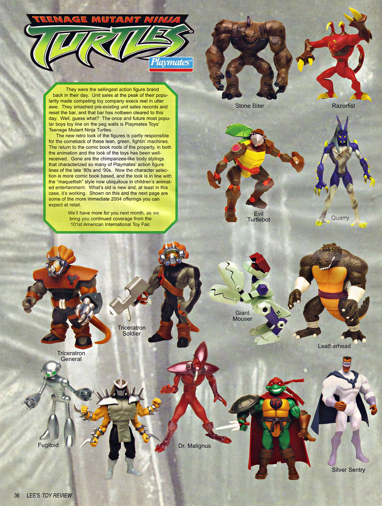 "LEE'S TOY REVIEW #xx, pg. 36 / ""TOY FAIR 2004"" , 'TMNT - 2k3 Peek'  (( March 2004 )) by tOkKa"