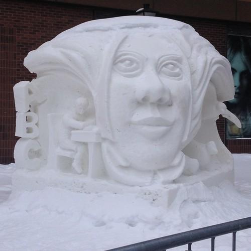 literacy sculpture