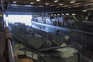 USS Green Bay conducts amphibious operations.