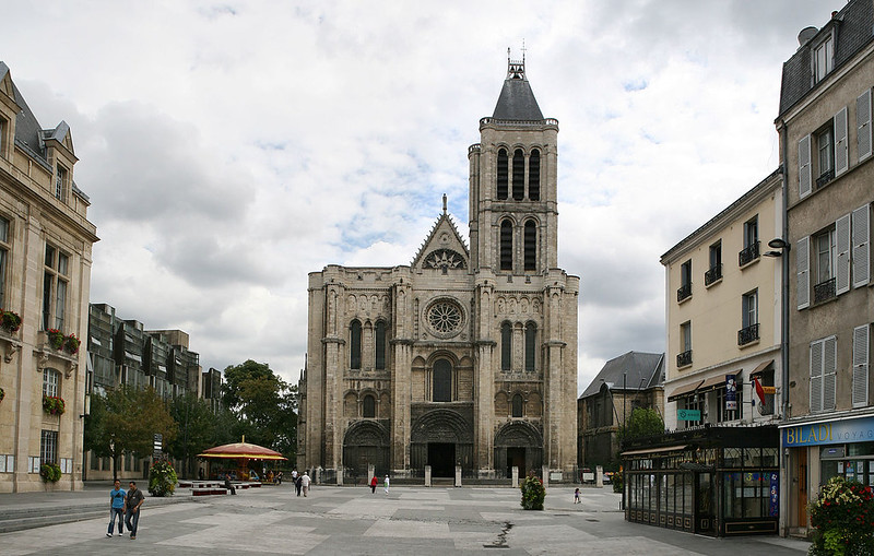 West facade of the Saint-Denis cathedral