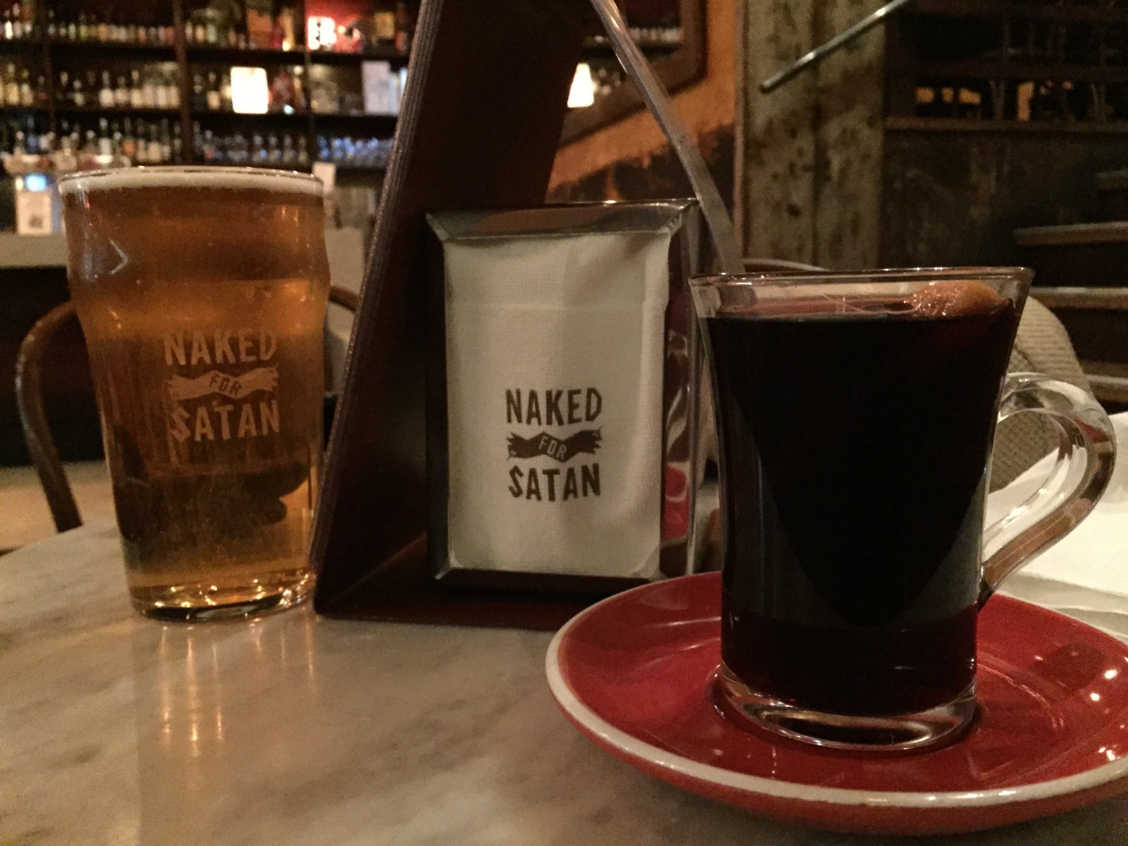 Mulled wine - Naked for Satan