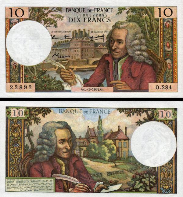 10 Frankov Francúzsko 1965-71, P147