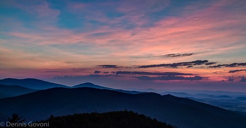 summer sky mountains fog clouds sunrise landscape virginia us unitedstates valley luray landscapemountain