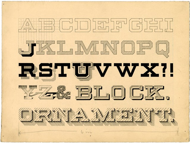 Penmanship publication design - Block Ornament
