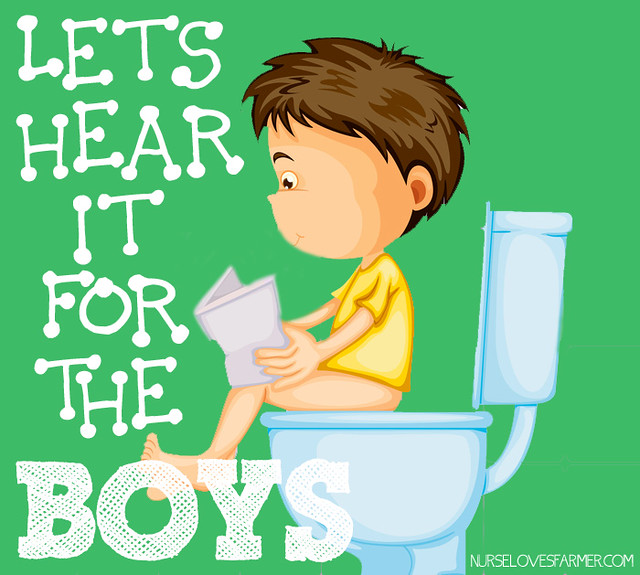 Boys Can Be Potty Trained at a Young Age Too!