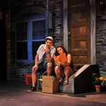 Diego Klock-Perez and Santina Umbach in a scene from the SpeakEasy Stage Company production of IN THE HEIGHTS, extended now thru June 16 at the Stanford Calderwood Pavilion at the Boston Center for the Arts, 527 Tremont Street in Boston's South End.  Tix/Info:  617-933-8600 or www.SpeakEasyStage.com</a>.  Photo:  Craig Bailey/Perspective Photo.