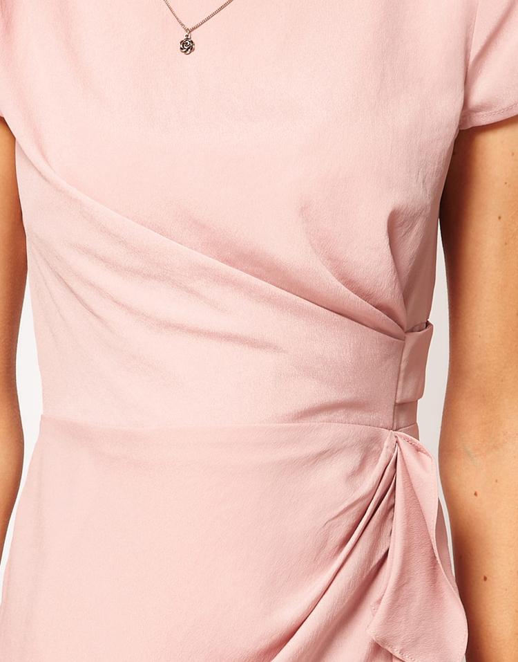 ASOS PETITE Exclusive Tulip Dress With Drape Side