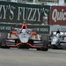 Ryan Briscoe and Dario Franchitti practice during Chevrolet Indy Dual in Detroit