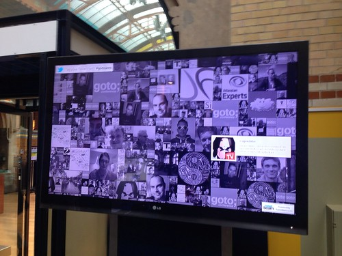 Twitter wall #gotoams that was a well timed shot :)