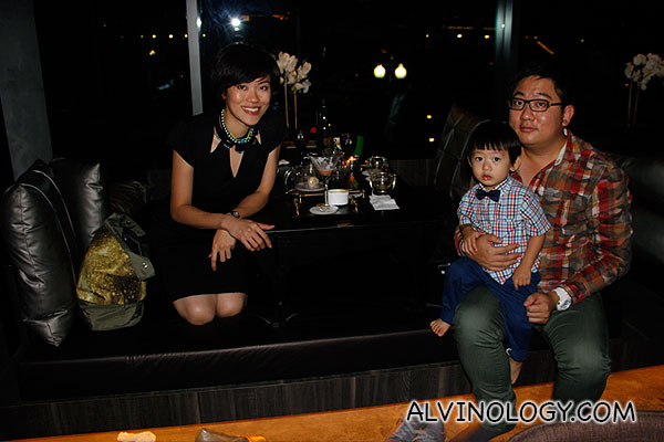 Rachel, Asher and I dining at MUSEO