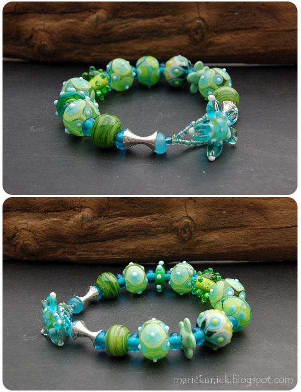 Armband-blauw-groen