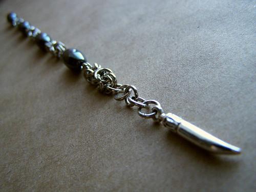 Bracelet - Mirrored hematite.