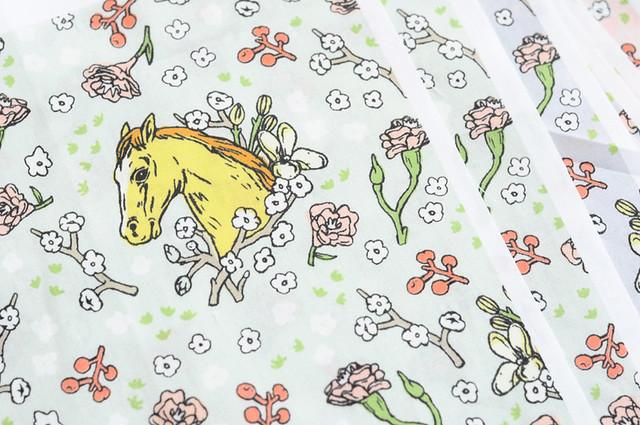 horse cameo fabric