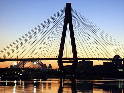 Anzac Bridge, Sydney - early morning by Geoff Heaton