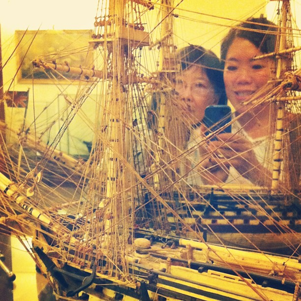 Me and mom in the ship room #filoli