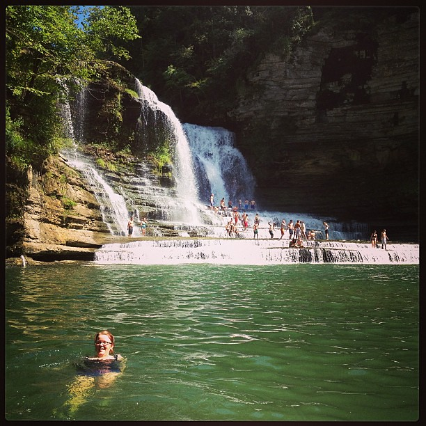 Hiked 4 miles to swim at the falls (& then 4 miles back. Oof).