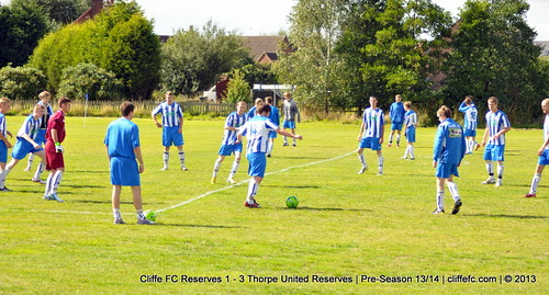 Cliffe FC 2ndXI 1 - 3 Thorpe Utd Reserves 31Aug13