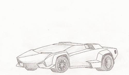 Supercar Drawing