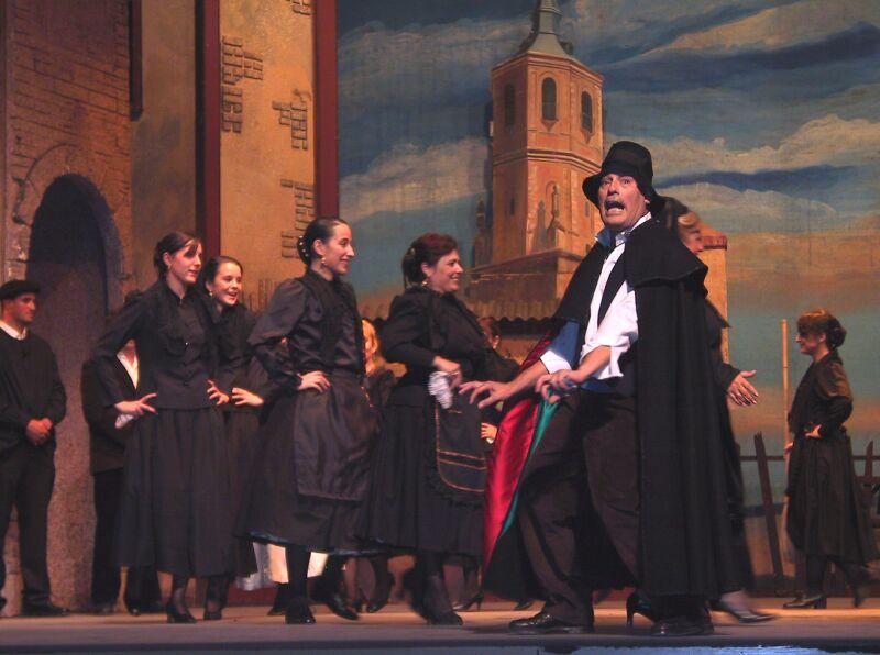3. Escena de la zarzuela La Rosa del Azafrán. Autor, ACAZ