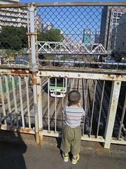 跨線橋から電車を見る 2013/9