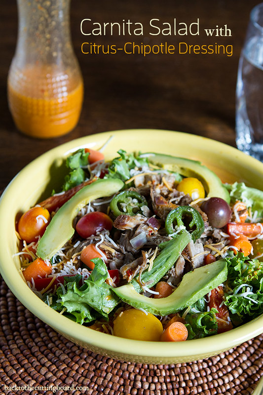 Carnita Salad with Citrus Chipotle Dressing