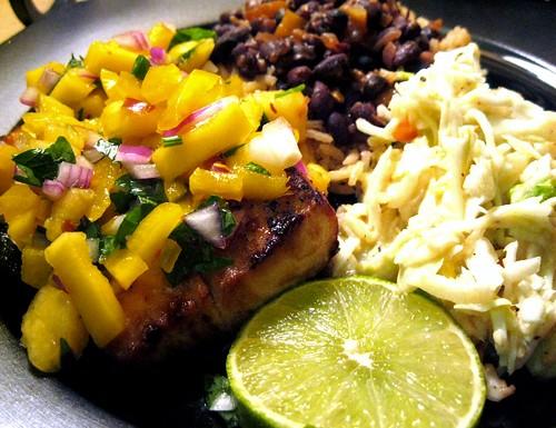Mahi Mahi with Mango Pineapple Salsa