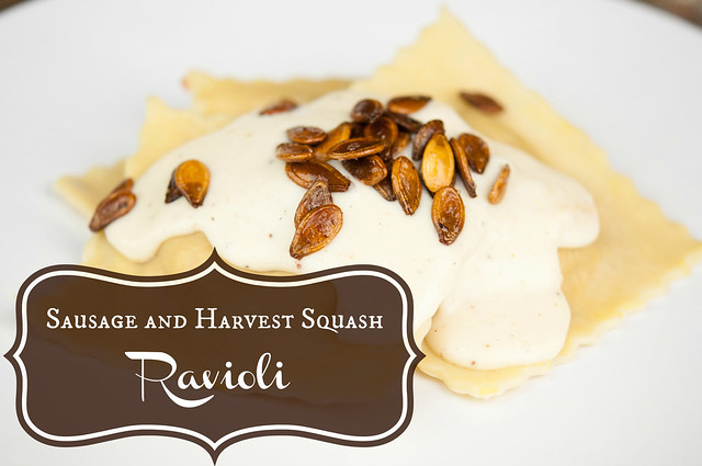 sausage and harvest squash ravioli in_the_know_mom