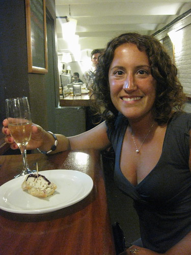 A glass of cava and a tapa at Gasteria