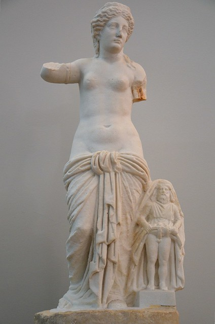 Statue of Venus Ansotica with Priapus, 2nd half of 1st century AD, from Aenona (Nin), Split Archaeological Museum