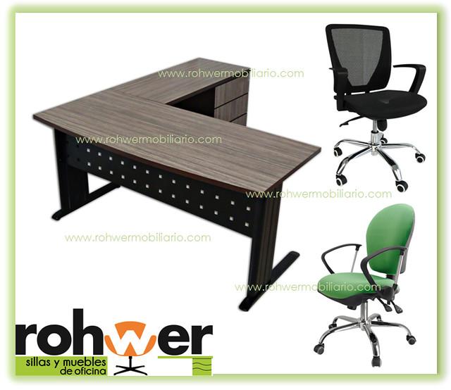 Modulo secretarial rohwer mod 01 muebles de oficina sillas for Muebles de oficina orts