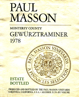 USA - Paul Masson Gewürztraminer 1978