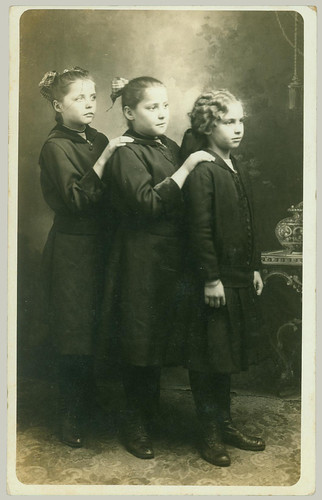 RPPC  three girls