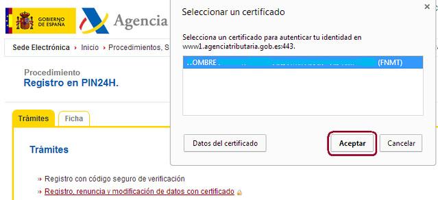Solicitud de certificado