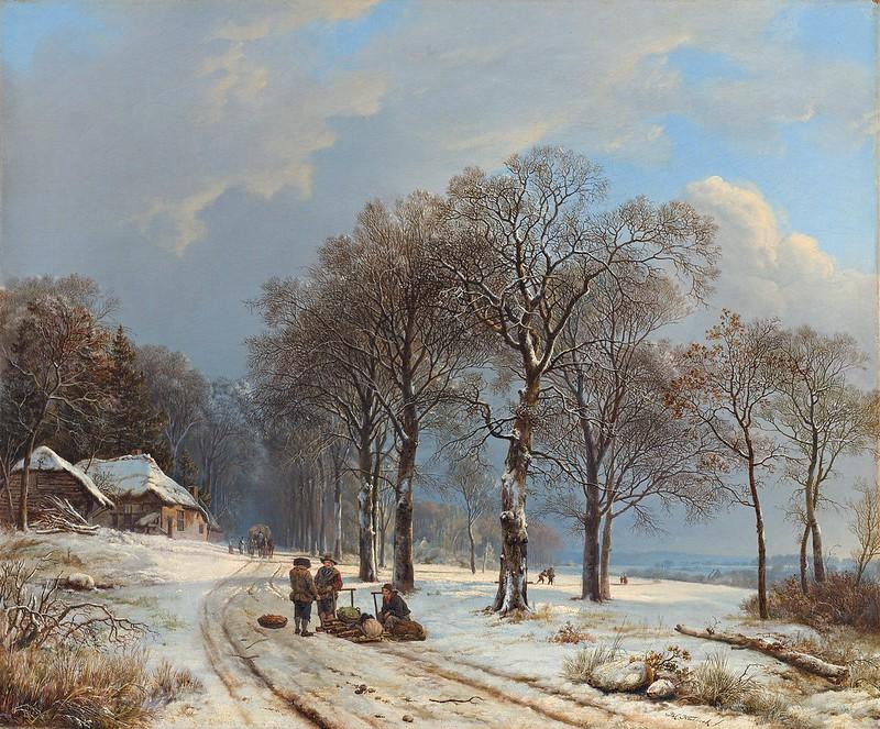 Barend Cornelis Koekoek - Winter Landscape (c.1835-1838)