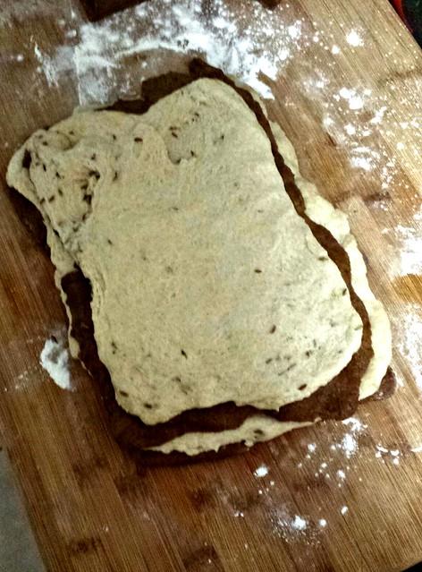 marble rye dough