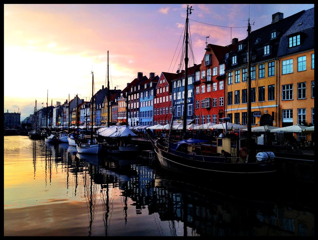Copenhagen sunset - iPhone