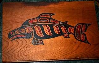 Sockeye Salmon gift box cover - from Alaska
