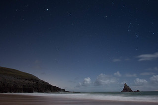 Stars over Broad haven beach