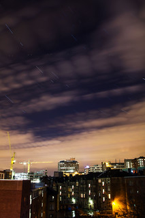 Star Trail in Glasgow City Centre