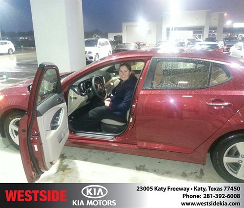 Thank you to Stacy Lazarine on your new 2014 #Kia #Optima from Rubel Chowdhury and everyone at Westside Kia! #NewCarSmell by Westside KIA