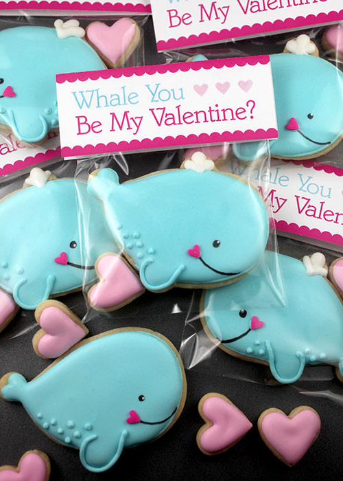 Whale Cookie Valentine Treats