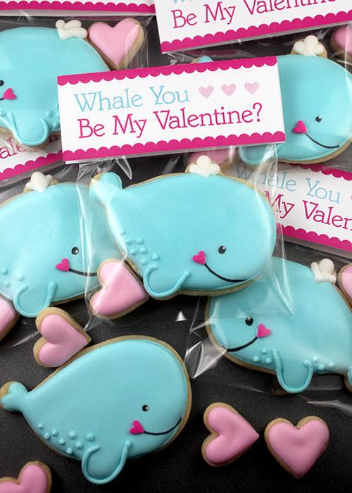 Whale Cookie Valentine Treats