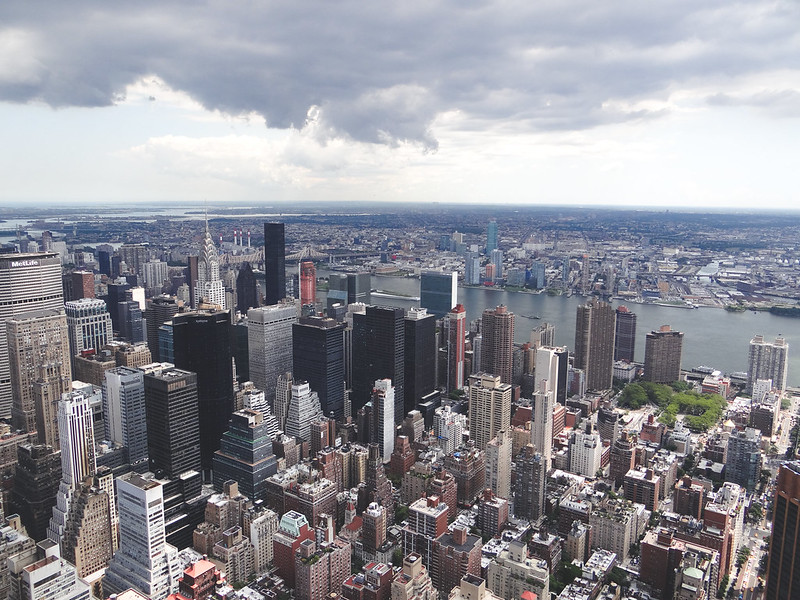View from the Empire State Building NYC