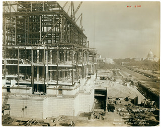 Photograph of the National Archives Building Being Constructed, 11/02/1933