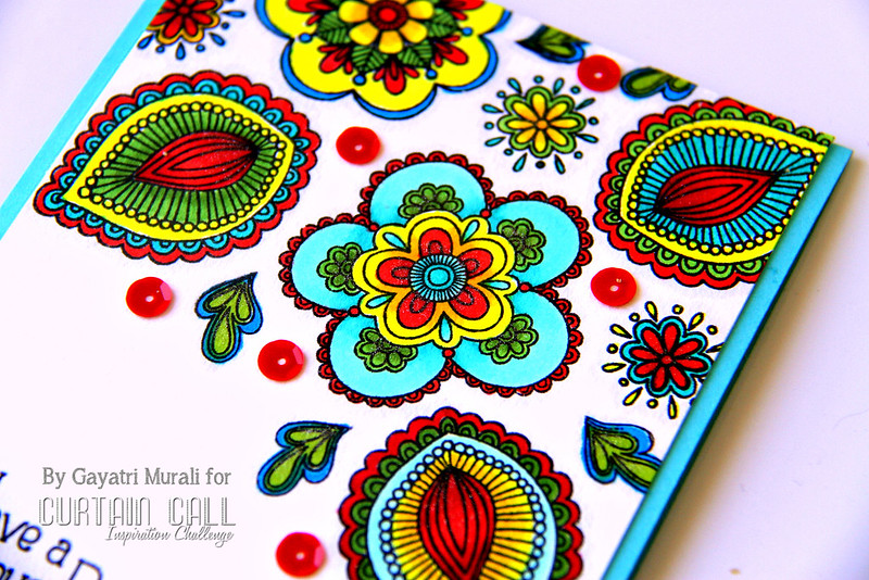Have a gorgeous Day card closeup