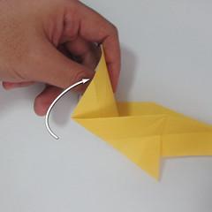 สอนวิธีพับกระดาษเป็นรูปลูกสุนัขยืนสองขา แบบของพอล ฟราสโก้ (Down Boy Dog Origami) 050